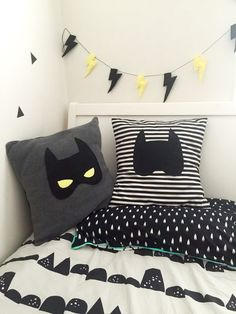 Batmask Batman Plush Grey Kids Cushion with Felt Mask Superhero Decor