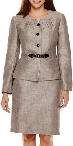 ISABELLA Isabella Long-Sleeve Jacket and Skirt Suit Set