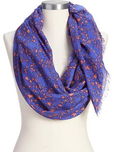Women's Floral-Silhouette Gauze Scarves Product Image