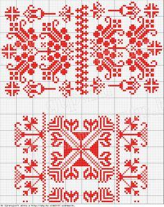 Magyar Népművészet II. Silágysági hímzések Cross Stitch Love, Cross Stitch Borders, Cross Stitch Patterns, Knitting Charts, Knitting Patterns, Blackwork, Beading Patterns, Embroidery Patterns, Beads Pictures