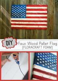 Get the look of reclaimed wood art without power tools using Make it Fun Foam from @floracrafts. Detailed DIY and giveaway of the supplies needed from @savedbyloves  Image Source