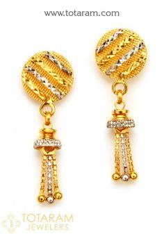 Gold Chandelier Earrings, Gold Drop Earrings, Gold Earrings Designs, Necklace Designs, 18k Gold Bracelet, Mens Gold Jewelry, Baby Earrings, Designer Earrings, Fashion Jewelry