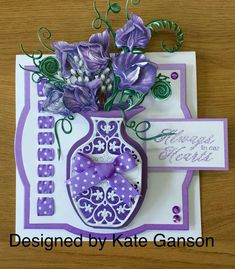 Tattered Lace Cards, Presents For Mom, Anna Griffin, Carnations, Washi Tape, Birthday Cards, Projects To Try, Birthdays, Ribbons