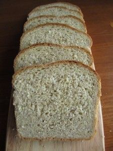 Simple flax meal bread - 2 C. white flour  1 C. whole wheat flour  1/4-½ C. ground flax seed (flaxmeal)  1 tsp. salt  1 ¼ C. warm water (90-110 degrees) or whey  1 pkg yeast (1/4 oz or 2 1/4 tsp.)  2 tsp. brown sugar  1 Tb. oil