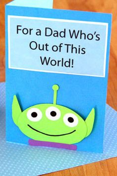 Three-Eyed Alien Father's Day Card