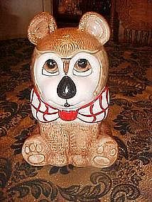 Bear with a bow tie, cookie jar, Weiss Brazil