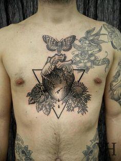 Tattoo on the chest  #tattoo #eatyourheartout
