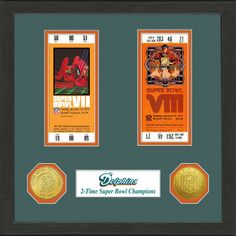c3649d374 Miami Dolphins Super Bowl Ticket Collection Frame is the ultimate way to  show-off your. Super Bowl TicketsNfl ...