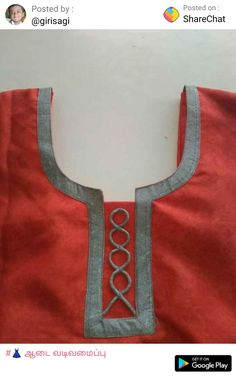 Chudithar Neck Designs, Churidhar Designs, Neck Designs For Suits, Sleeves Designs For Dresses, Neckline Designs, Blouse Neck Designs, Sleeve Designs, Blouse Styles, Salwar Kameez Neck Designs