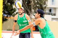 Italy's Paolo Nicolai (left) and Daniele Lupo in action