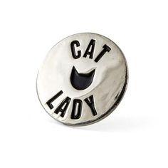 CAT LADY ENAMEL PIN