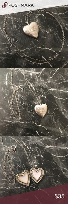 """✨Forever in my Heart Locket✨ Genuine. 925 Silver Absolutely gorgeous genuine 925 silver locket necklace that reads """"Forever in my Heart"""".! Perfect to give as a gift in Christmas.!  🎄 ⛄️ Bundle 2 or more items for 15% off your purchase.!⛄️🎄 Jewelry Necklaces"""