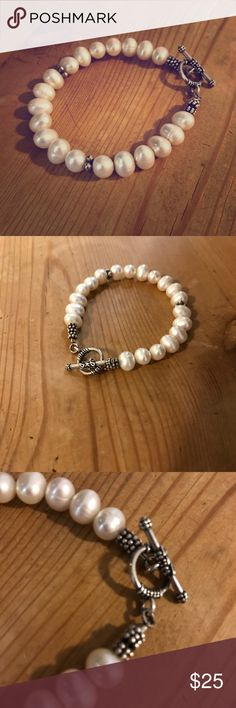 Silpada sterling silver and pearl bracelet Silpada bracelet in excellent condition! Made of .925 sterling silver and pearls. This is a beautiful bracelet that can easily be dressed up or down. Silpada Jewelry Bracelets