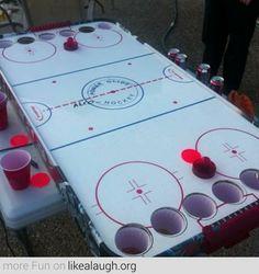 Canadian Beer Pong - Beer Air Hockey