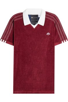ADIDAS ORIGINALS BY ALEXANDER WANG Velour Polo Shirt. #adidasoriginalsbyalexanderwang #cloth #