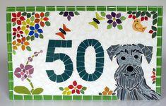 Mosaic Crafts, Mosaic Art, Mosaic Glass, Mosaic Tiles, Diy Art Projects, Mosaic Projects, Puppy Palace, Mosaic Pictures, Schnauzer