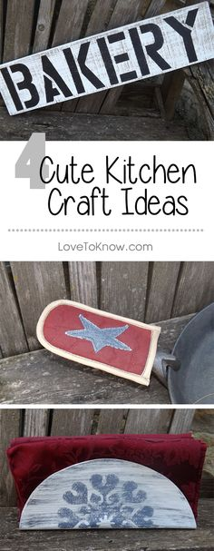 Freshen your kitchen with a few crafts that accent and provide