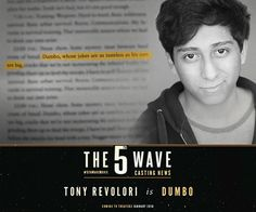 Squad 53 is coming together! Tony Revolori will play Dumbo. Like us for more info. The 5th Wave Movie, The Fifth Wave Book, The 5th Wave Series, Tony Revolori, The Last Star, Coming To Theaters, Upcoming Films, The Infernal Devices, Book Series