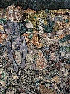 "Jean Dubuffet ""Extremely Rich Earth "" Oil on canvas assemblage. 156 x 117 cm. Jean Fautrier, Francoise Gilot, Art Informel, Jean Dubuffet, Tachisme, Art Brut, Naive Art, Outsider Art, Renaissance Art"