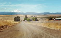 Photo canvas or print – Country road in Oregon, snow-capped Mt. Hood, earth tones, eastern washington, pacific northwest photo