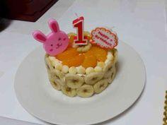 一歳 誕生日 ケーキの画像
