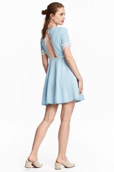 Robe courte - Bleu denim clair - FEMME | H&M FR