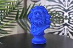 Colbolt Blue Flock Marseillaise Bust Quirky Decor, Unique Home Decor, French Sculptor, Famous Words, Flocking, Im Not Perfect, Carving, Sculpture, Retro