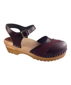 Look at this Black Cherry Penny Leather Clog on #zulily today!