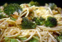 Spaghetti with Broccoli, Brie, and Walnuts recipe from Sara's Secrets via Food Network
