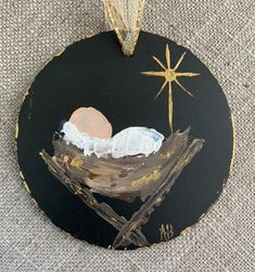 me ~ Pin on Christmas ~ Nativity Ornament Christmas religious gift Nativity Ornaments, Painted Christmas Ornaments, Baby Ornaments, Nativity Crafts, Christmas Nativity, Christmas Projects, Holiday Crafts, Christmas Decorations, Nativity Scenes