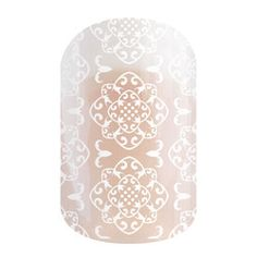 Grenada | Jamberry | This subtle yet flirty design on a clear nail wrap is the perfect finishing touch to your mani! Add it for a little extra something special or wear it alone for a simple manicure.