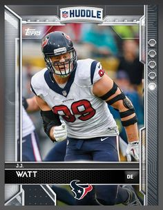 J.J. Watt Houston Texans Base Card 2016 Topps HUDDLE
