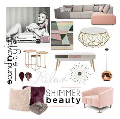 """Scandinavian Style"" by tarsinderia ❤ liked on Polyvore featuring interior, interiors, interior design, home, home decor, interior decorating, PBteen, Renwil, Brookstone and Rituel de Fille"