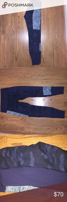 Lululemon full length pants Authentic lulu. Multi printed pant super cute!! Size 6. The prints are camo, blue dotted, and navy all in one pant!! Good condition and well taken care of. Rare find ladies!!! 😋 lululemon athletica Pants