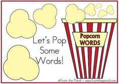This is a short Smartboard lesson to introduce your weekly sight words.You are able to edit the words behind the popcorn pieces to reflect your...