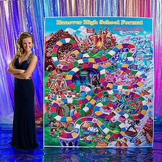 Our Candy Land Game Board Standee is a large exact replica of your favorite childhood game with your message imprinted on it.