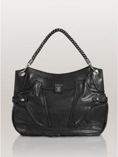 GUESS Sidney Hobo Handbag, BLACK