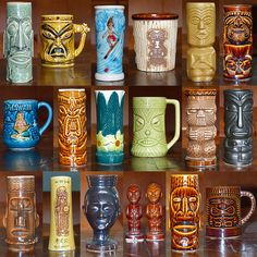 Tiki Mugs - vintage mugs from the 1950s, 60s & 70s | Flickr - Photo Sharing!