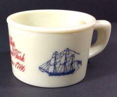 "Vintage Old Spice Shaving Cream Mug Cup Ship Grand Turk Salem 1786 Shulton 2.5"" Tall #OldSpice #SailingShips"