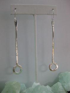 Sterling Silver Long Loop Dangle Earrings by The Silver Garden, Hilton Head, SC