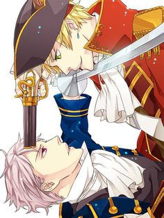 Stand-off between Arthur and Gilbert. Mind you, I think Arthur's got the advantage here - Gilbert's holding the edge of his sword to Arthur's throat, but if it's a smallsword, it's not that effective a slashing weapon. So they had better be sparring, because if not, this won't end well....