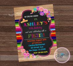Fiesta Party Invitation Fiesta Birthday by AngelsTouchPartyShop