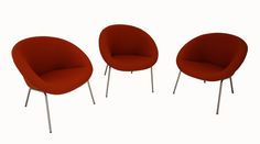 Set of 3 Walter Knoll 396 chairs Walter Knoll, Modern, Chairs, Furniture, Home Decor, Armchair, Nice Asses, Trendy Tree, Decoration Home