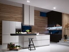 Modern Backsplash:cute Wooden Backsplash With Modern Island And Metal Bar  Stool Feat Minimalist Kitchen Model Plus White Cabinets