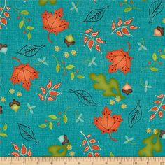 Designed by Heather Mulder Peterson for Henry Glass, this cotton print is perfect for quilting, apparel and home decor accents. Colors include black, yellow, cream, shades of brown, shades of green, shades of orange, and shades of aqua.