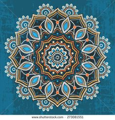 Abstract ethnic round ornamental pattern
