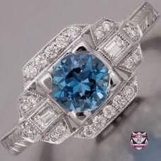 Santa Maria Aquamarine Engagement Ring - this has to be my favorite stone.