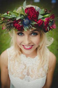 winter inspired flower crown - brides of adelaide
