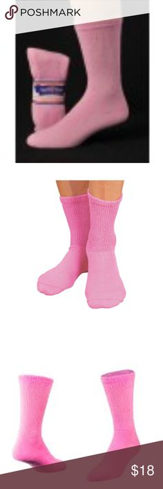 Diabetic Socks 12 Pair White Womens SZ Medium 1st Quality Fit Shoe Sizes 5-9
