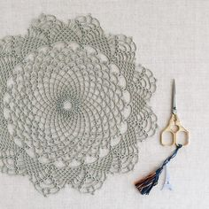 A more complete view of the Evangeline Doily, a pattern which can be found in my book.